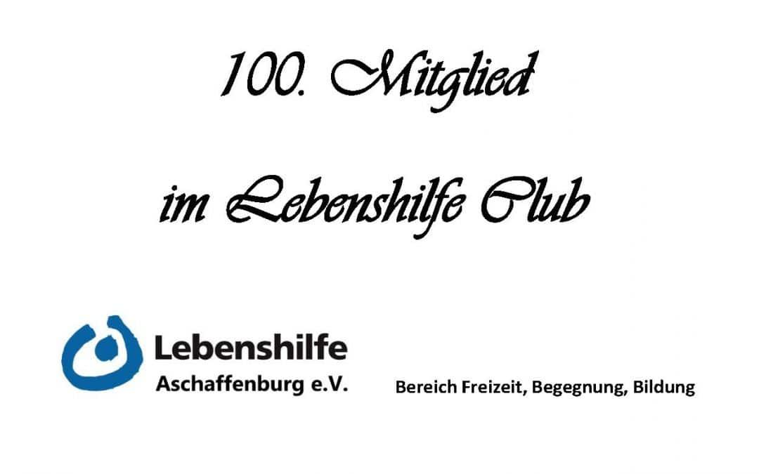 100. Club Mitglied