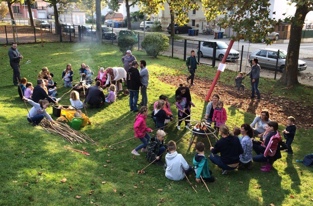 Elternbeiratswahl und Kartoffelfeuer in der Integrativen Kindertagesstätte Himmelszelt