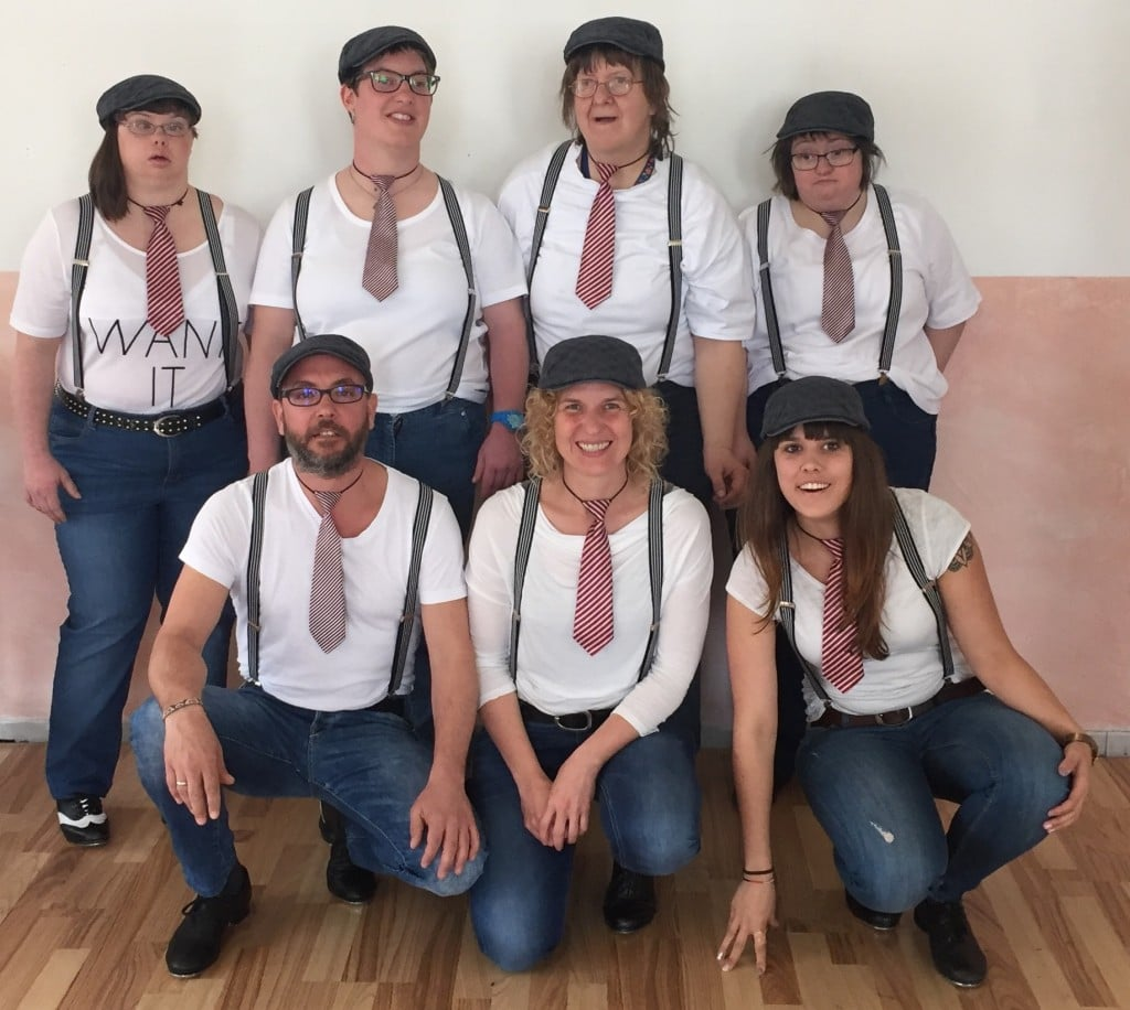 Auftritt unserer inklusiven Step-Tanz-Gruppe