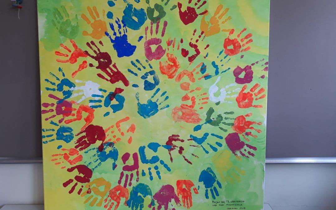 Gemeinsame Projekte von Kindern der Heilpädagogischen Tagesstätte in der Außenstelle mit den Kindern der Mittagsbetreuung der Mozartschule Obernau