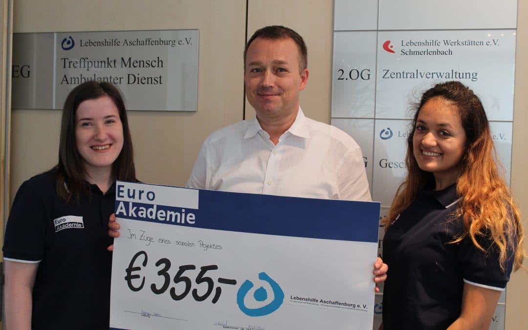 Spende der Abschlussklasse Euro Management Assistenten