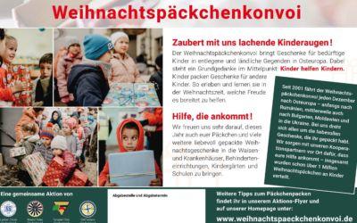 Weihnachtspäkchenkonvoi – unsere Kindertagesstätten machen mit