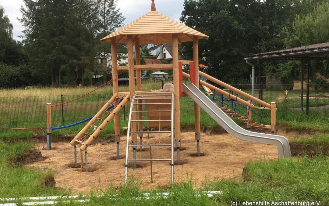 Neues aus unserer Integrativen Kindertagesstätte in Mömbris – das Außengelände wird gestaltet