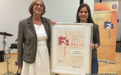 Der Bereich Freizeit, Begegnung, Bildung hat den Agenda21-Preis der Stadt Aschaffenburg verliehen bekommen