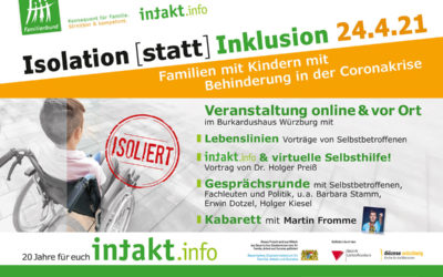 Isolation [statt] Inklusion – Familienforum von intakt.info